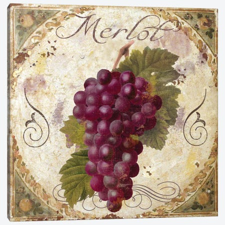 Tuscany Table Merlot Canvas Print #CBY994} by Color Bakery Art Print
