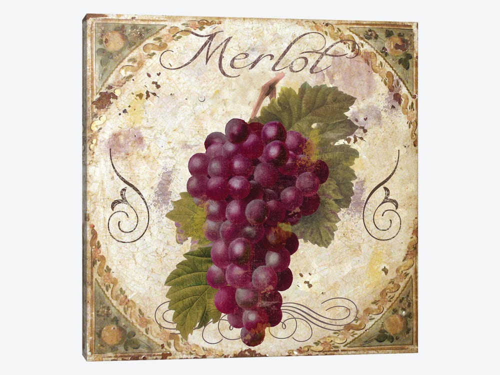 Tuscany Table Merlot by Color Bakery 1-piece Canvas Print