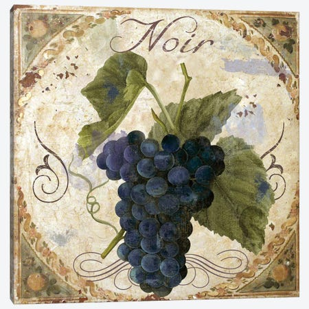 Tuscany Table Noir 3-Piece Canvas #CBY995} by Color Bakery Canvas Print