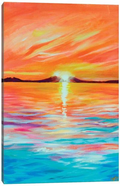 Fluorescent Sunset Canvas Art Print