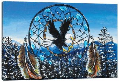 Eagle Dream Catcher Canvas Art Print