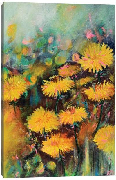 Morning Dandelions Canvas Art Print
