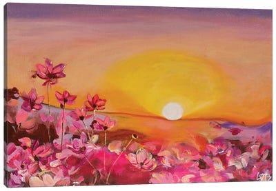 Morning Flower Burst Canvas Art Print