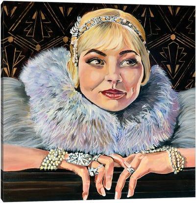Flapper Girl Canvas Art Print