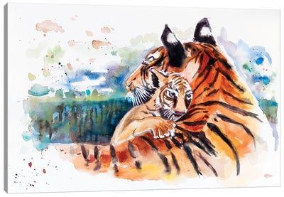 Tigress And Cub Canvas Art Print