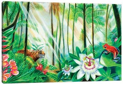 Tiger In Rainforest Canvas Art Print