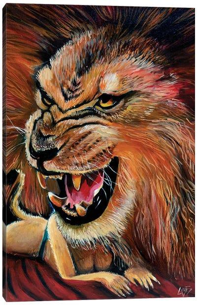 Roar Girl Canvas Art Print