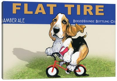 Flat Tire Canvas Art Print