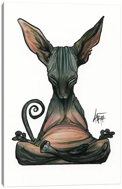 Meditating Sphynx Canvas Art Print