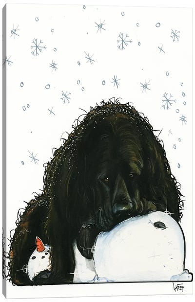 Newfoundland The Snowlover Canvas Art Print