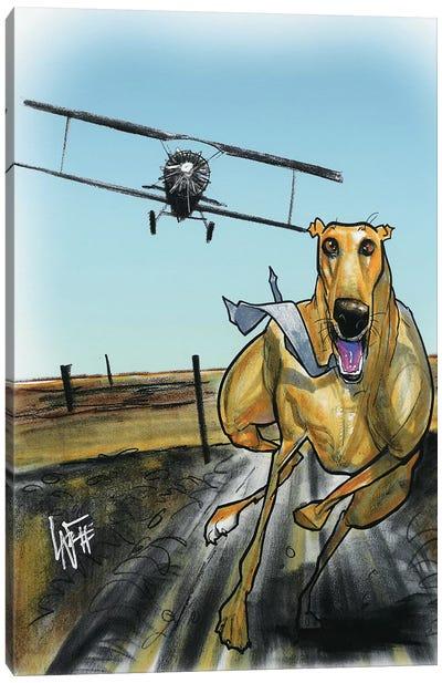 North by Northwest Greyhound Canvas Art Print