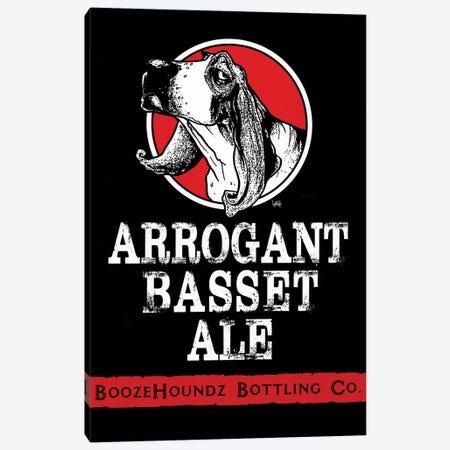 Arrogant Basset Ale Canvas Print #CCA2} by Canine Caricatures Art Print