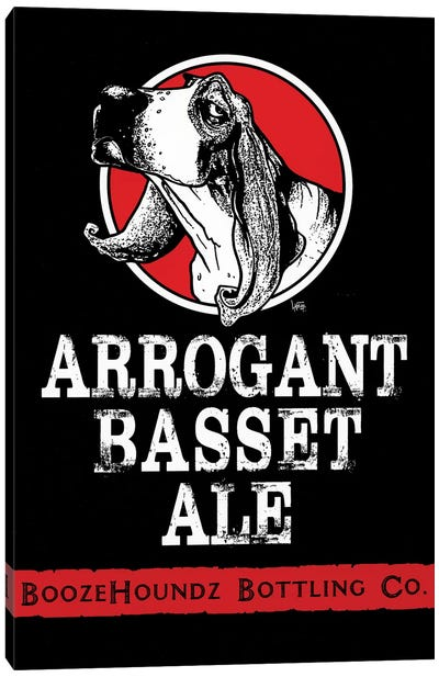 Arrogant Basset Ale Canvas Art Print