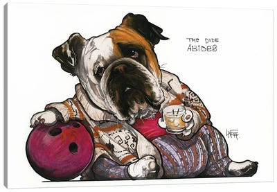 The Bulldog Lebowski Canvas Art Print