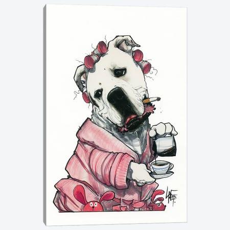 Whatsamatta Canvas Print #CCA33} by Canine Caricatures Art Print