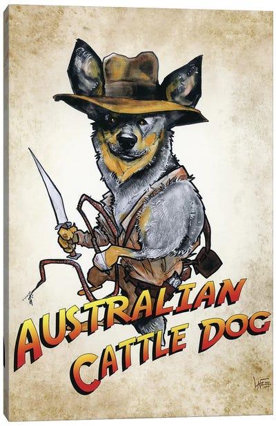 Australian Cattle Dog Jones Canvas Art Print