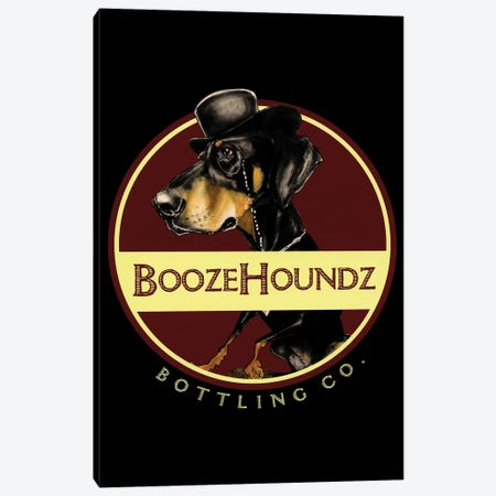 Boozehoundz Bottling Co 3-Piece Canvas #CCA37} by Canine Caricatures Canvas Artwork