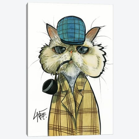 Cat Detective Canvas Print #CCA38} by Canine Caricatures Canvas Print