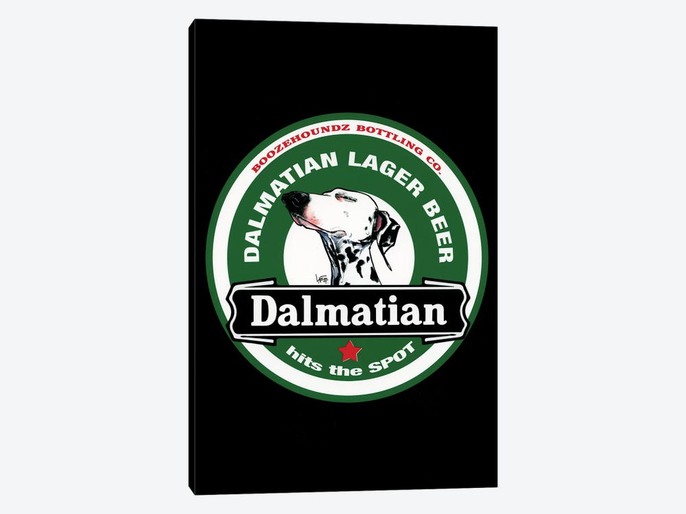 Dalmatian Lager Beer by Canine Caricatures 1-piece Canvas Print