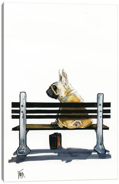 Frenchie Gump Canvas Art Print