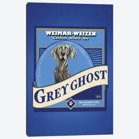 Grey Ghost Weimar-Weizen 3-Piece Canvas #CCA44} by Canine Caricatures Canvas Art Print