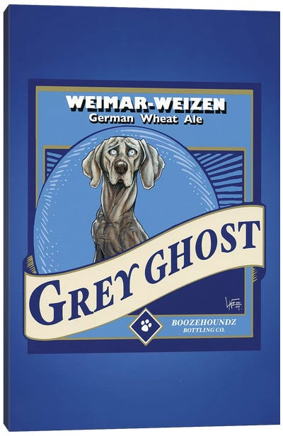 Grey Ghost Weimar-Weizen Canvas Art Print