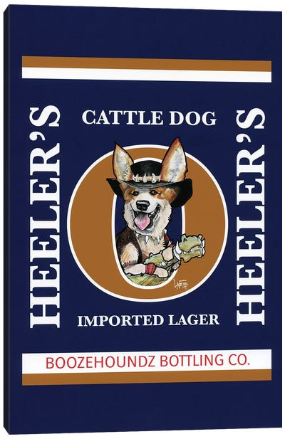 Heelers Cattles Dog Imported Lager Canvas Art Print