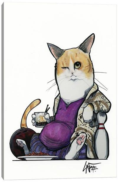 Lebowski Cat Canvas Art Print