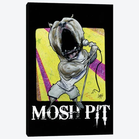 Mosh Pit 3-Piece Canvas #CCA55} by Canine Caricatures Canvas Wall Art