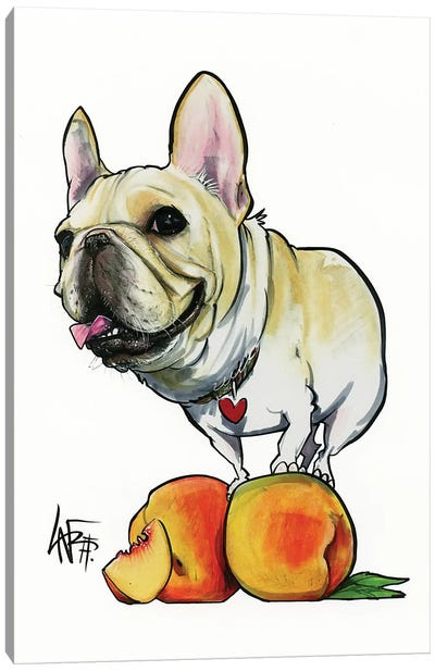 Peaches The Frenchie Canvas Art Print