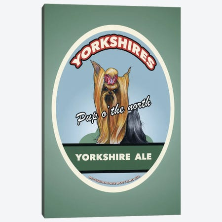 Yorkshire Ale Canvas Print #CCA62} by Canine Caricatures Canvas Artwork