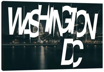 Washington, D.C. (38.9° N, 77° W) Canvas Art Print