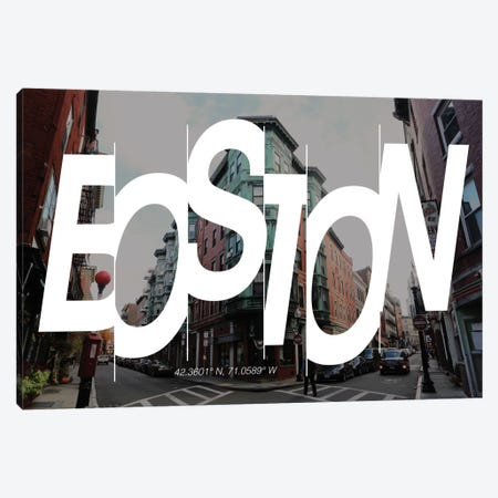 Boston (42.3° N, 71° W) Canvas Print #CCB1} by 5by5collective Canvas Art