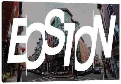Boston (42.3° N, 71° W) Canvas Art Print