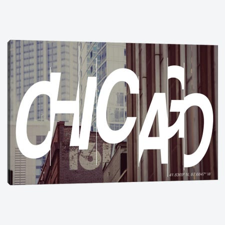 Chicago (41.8° N, 87.6° W) Canvas Print #CCB2} by 5by5collective Canvas Artwork