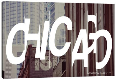Chicago (41.8° N, 87.6° W) Canvas Art Print
