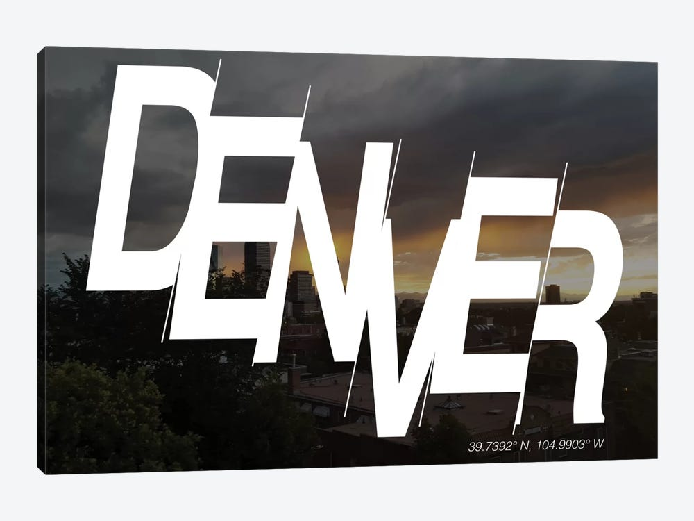 Denver (39.7° N, 104.9° W) by 5by5collective 1-piece Canvas Art