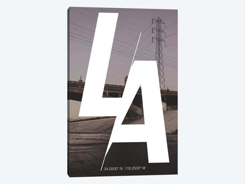 Los Angeles (34° N, 118.2° W) by 5by5collective 1-piece Canvas Print