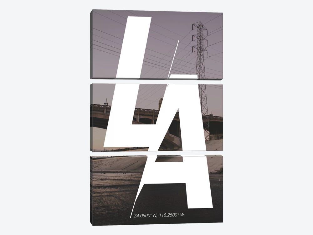 Los Angeles (34° N, 118.2° W) by 5by5collective 3-piece Canvas Print