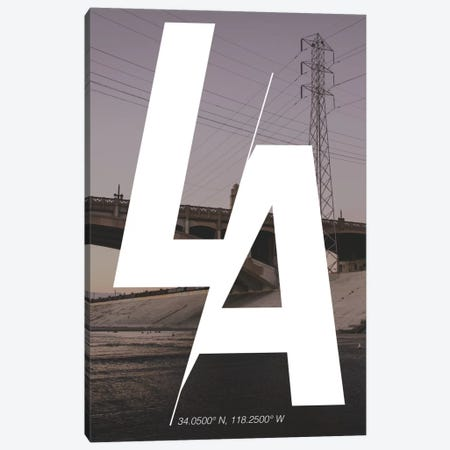 Los Angeles (34° N, 118.2° W) Canvas Print #CCB4} by 5by5collective Canvas Art Print