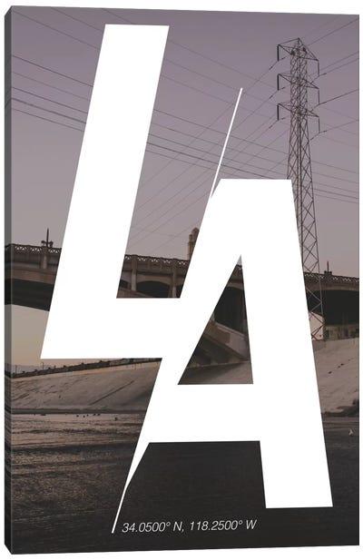 Los Angeles (34° N, 118.2° W) Canvas Art Print