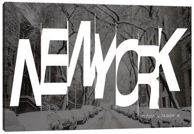 New York (40.7° N, 74° W) Canvas Art Print