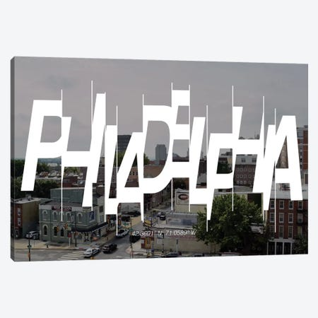 Philadelphia (42.3° N, 71° W) Canvas Print #CCB6} by 5by5collective Canvas Print
