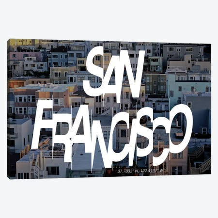 San Francisco (37.7° N, 122.4° W) Canvas Print #CCB7} by 5by5collective Canvas Print