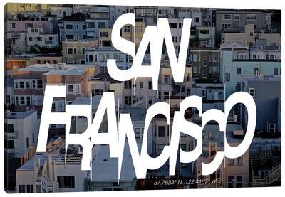 San Francisco (37.7° N, 122.4° W) Canvas Art Print