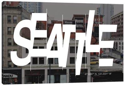 Seattle (47.6° N, 122.3° W) Canvas Art Print