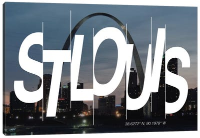 St. Louis (38.6° N, 90.1° W) Canvas Art Print
