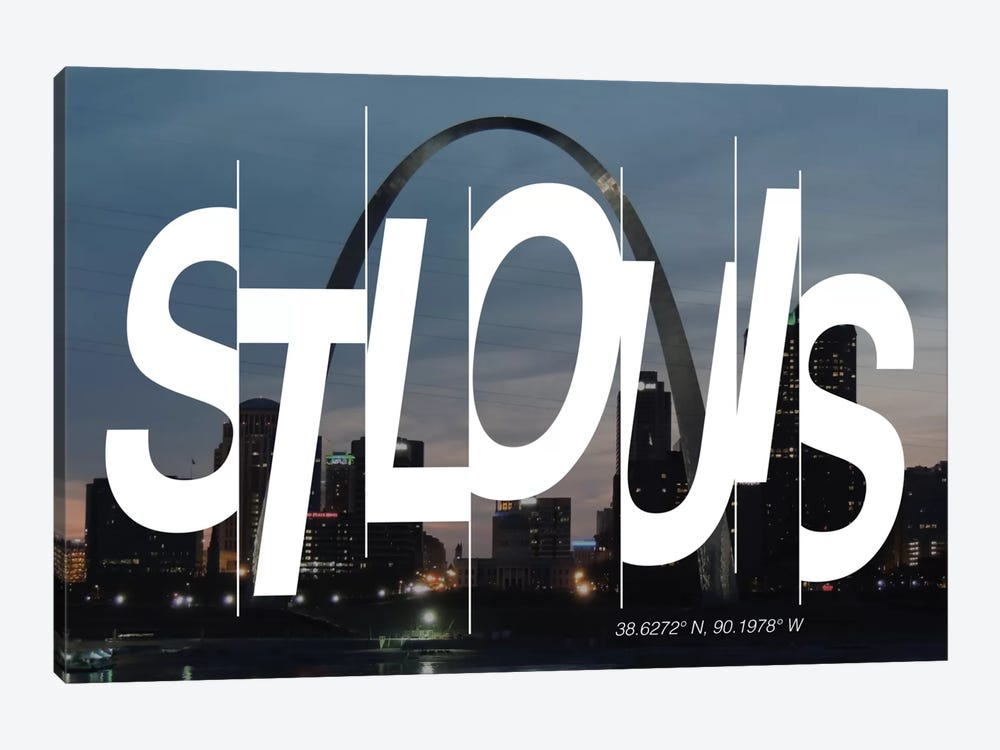 St. Louis (38.6° N, 90.1° W) by 5by5collective 1-piece Canvas Wall Art