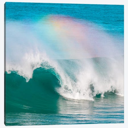 Rainbow Wave 3-Piece Canvas #CCD12} by Charlotte Curd Canvas Wall Art