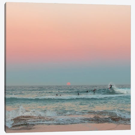 Sunrise Surf 3-Piece Canvas #CCD55} by Charlotte Curd Canvas Print